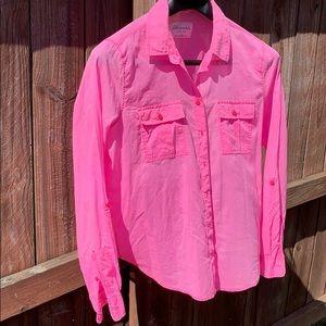 Aeropostale Women's XL Pink Cotton Blouse